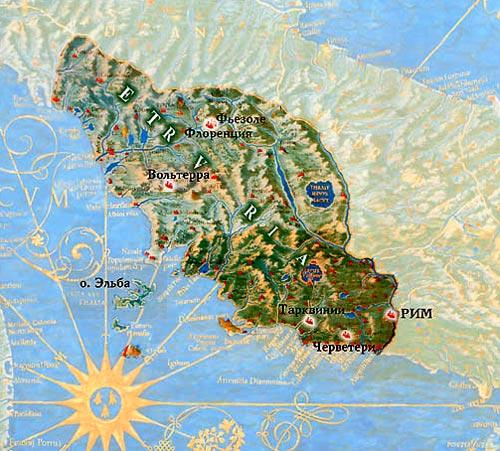 Etruscii au locuit aici