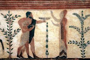 Scenă de sacrificiu din mormânt