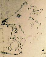 Domnul a lui Hades. Michelangelo schiţă